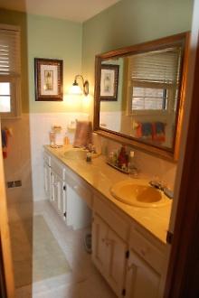 Old Dated Hallway Bathroom