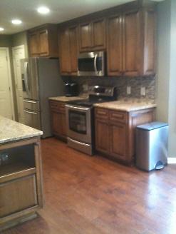 New Hardwood Floors in Kitchen
