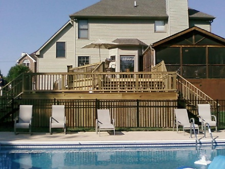 Multi-Tiered Deck with Pool
