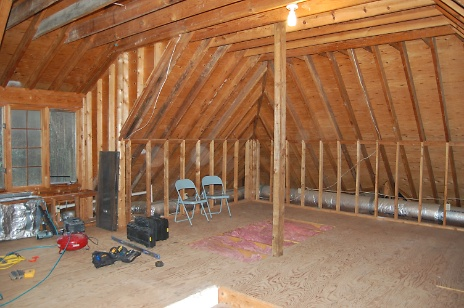 New Attic Craft Room