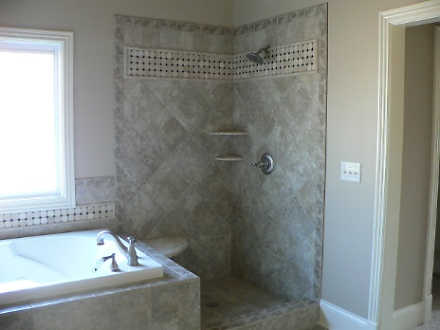 Master Bathroom Shower and Spa Tub