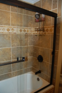 Renovated Guest Tub Shower