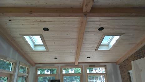 Sun Room Beadboard and Skylights 2