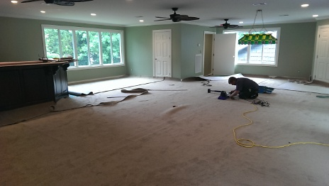 Carpet being Installed