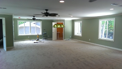 Carpet installed in bonus room
