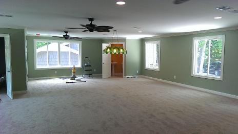Carpet installed in bonus room