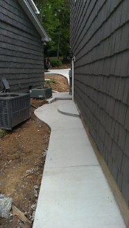 Concrete Walkway for new garage