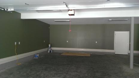 Inside Garage finished walls