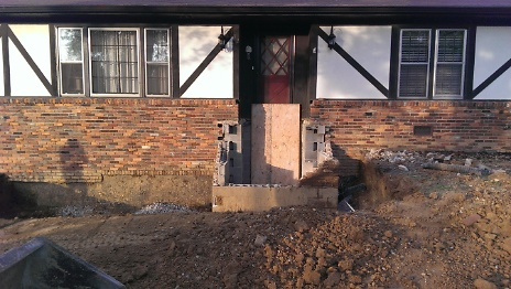 Front Steps Removed