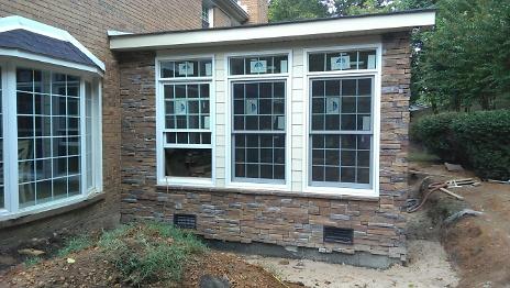 Stone Exterior Install