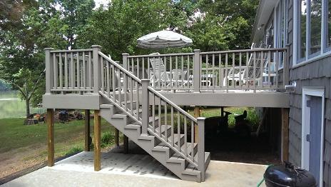 Stairs to upper deck off bonus room