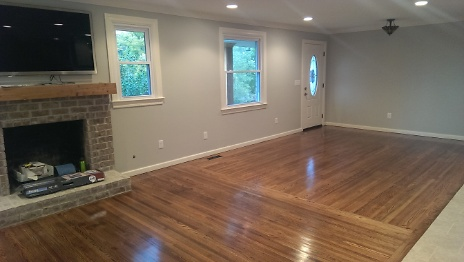 Finished hardwood flooring