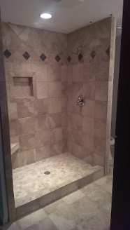 Finished master shower