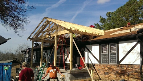 Gabled Porch Roof Joists