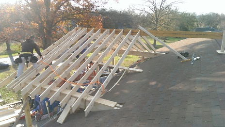Gabled Porch Roof Tie-in