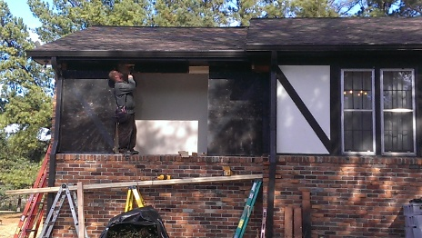 1st window being replaced