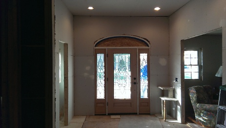 New Entryway drywalled