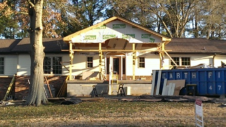 New Front Porch almost complete