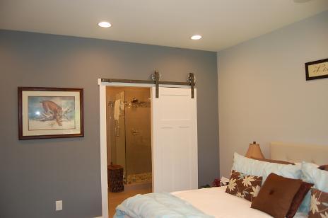 Bedroom - Rolling Door to Bathroom