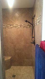 After - New Walk-In, Doorless Shower