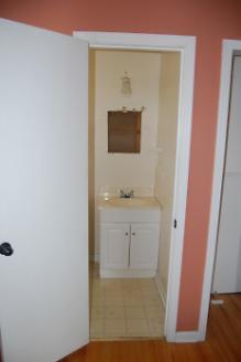 Before - Doorway to Bathroom