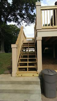 New Back Deck Stairs