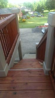 New Back Deck, Stairs Stained