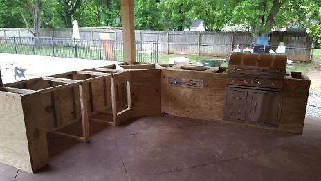 Outdoor Kitchen Framed In