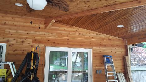 Western Cedar Siding & Wrapped Beams