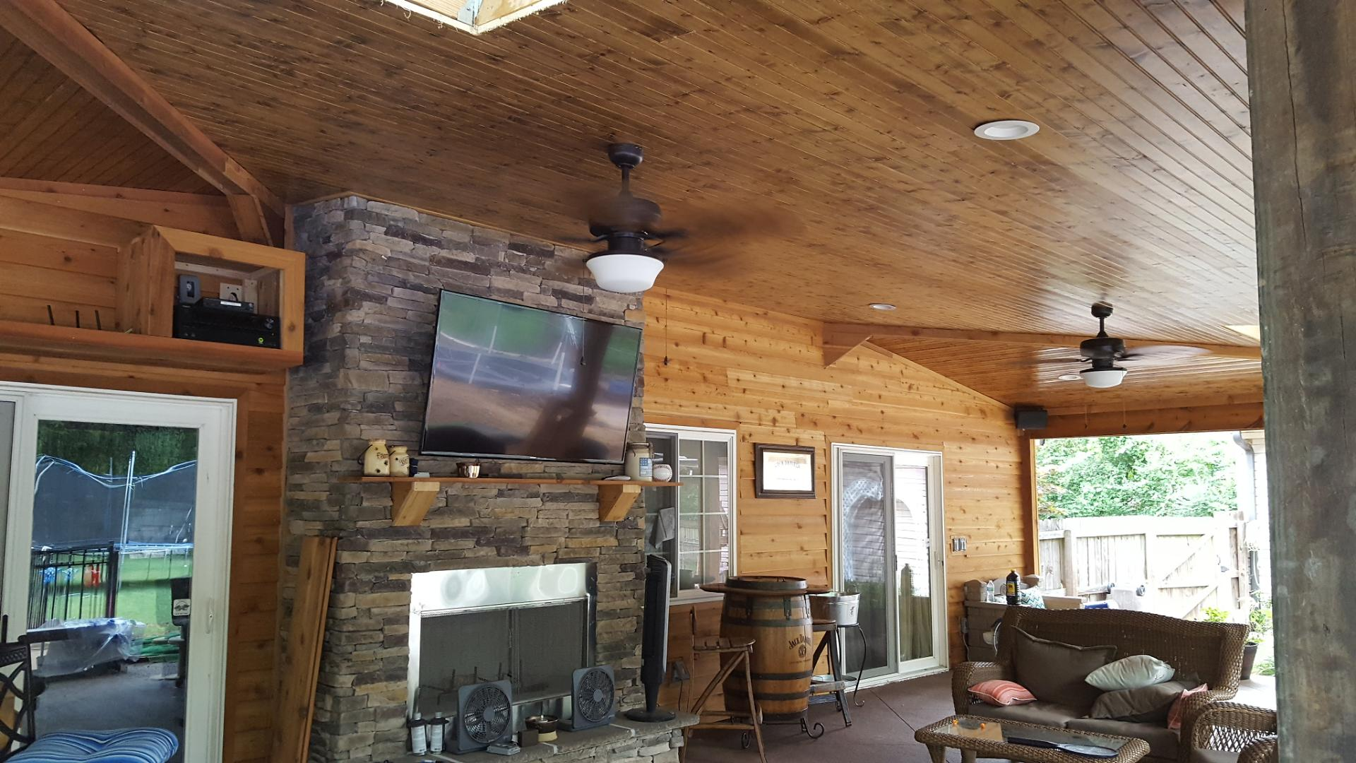 Joe M. Staub Building Group - Covered Patio with Outdoor ... on Covered Outdoor Kitchen With Fireplace id=35610