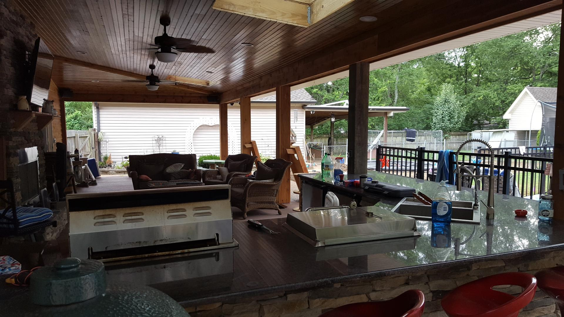Joe M. Staub Building Group - Covered Patio with Outdoor ... on Covered Outdoor Kitchen With Fireplace id=80923